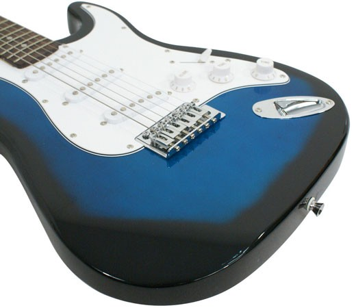 Full-Size-Blue-Electric-Guitar