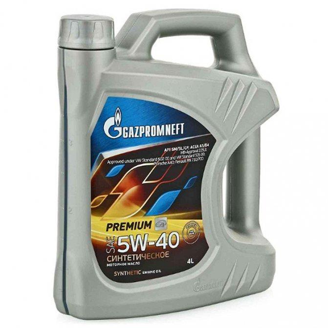 Газпромнефть Premium N 5W-40 4 л фото