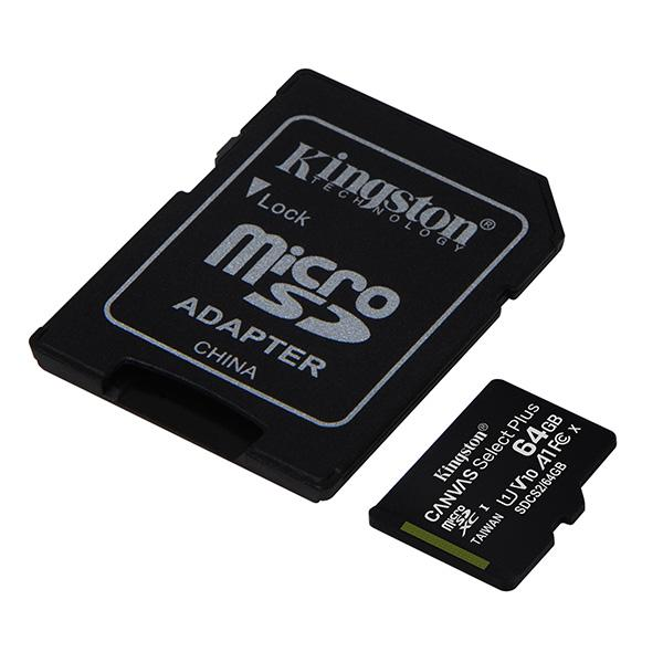 Kingston Canvas Select microSDHC Class 10 UHS-I U1 32GB + SD adapter (SDCS/32GB) фото
