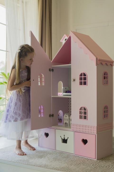 Кукольный домик Детская Тереза - розово-белый фото