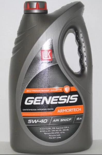 ЛУКОЙЛ Genesis Armortech 5W-40 4 л фото