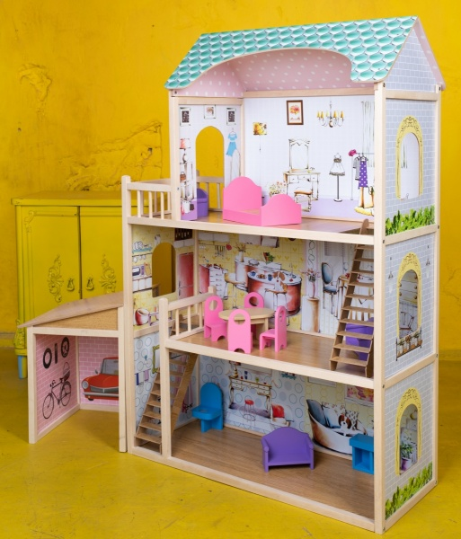 SunnyWoods кукольный домик Алина с гаражом фото