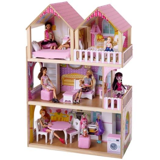 SunnyWoods кукольный домик Серафима со съемной мансардой фото