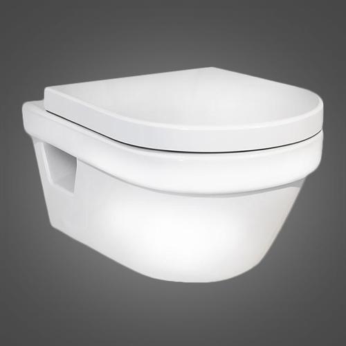 Gustavsberg Hygienic Flush WWC 5G84HR01 (с сиденьем, микролифт) с горизонтальным выпуском фото