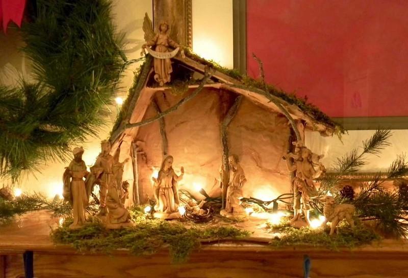 Поделка вертепа на Рождество